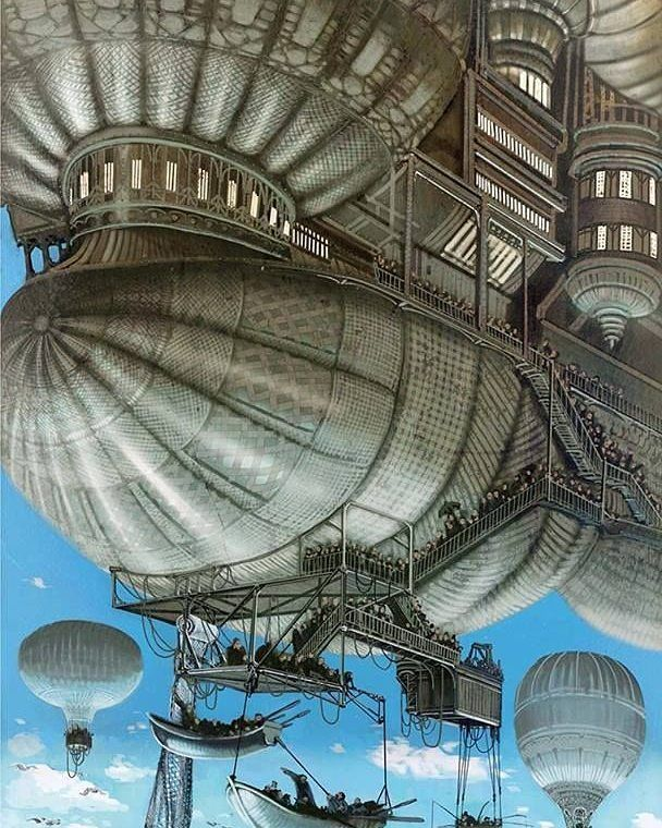 Follow Us To See More Art Steampunk Paysage Fantastique Dessin Steampunk