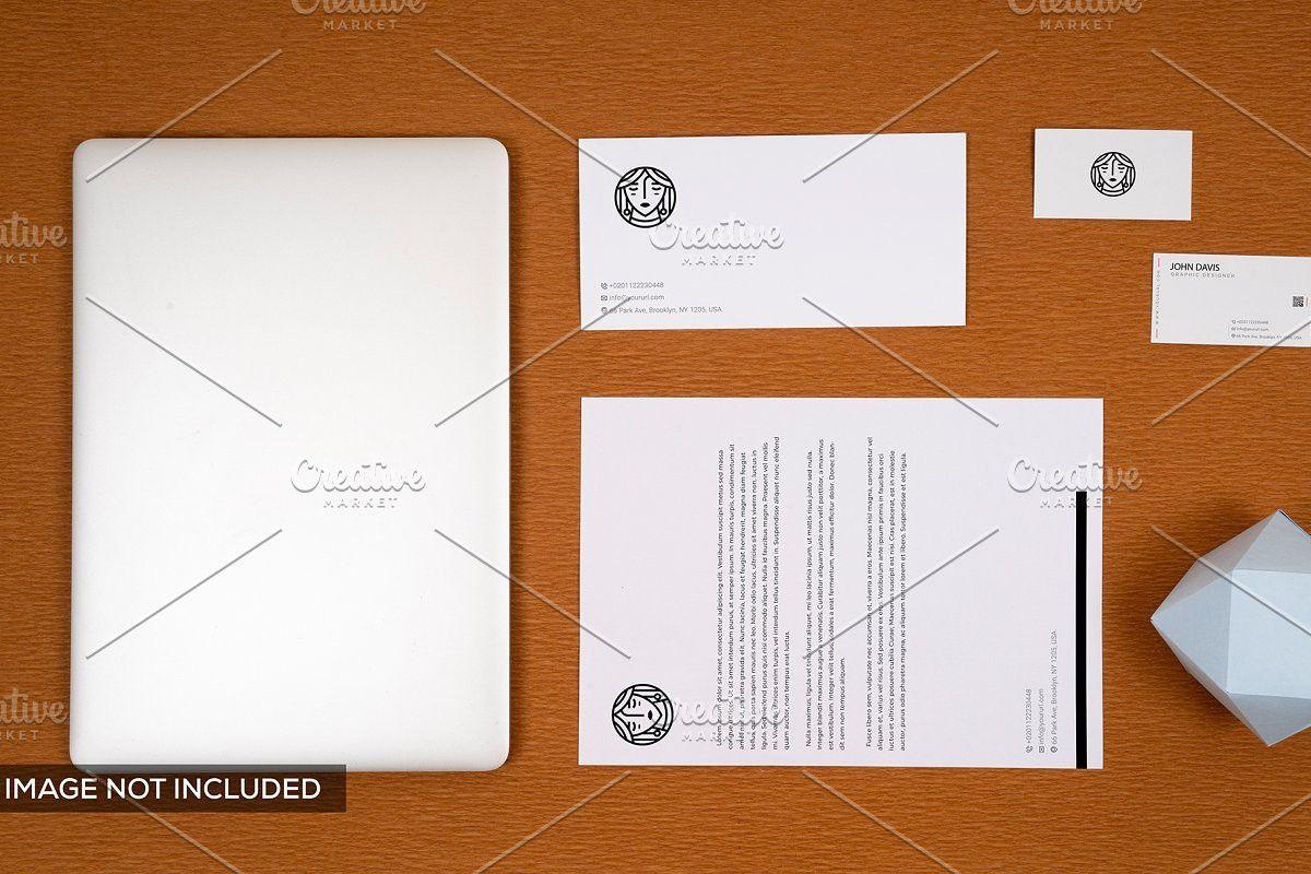 Branding Mockup In Brown 5 Business Card Mock Up Branding Mockups Branding