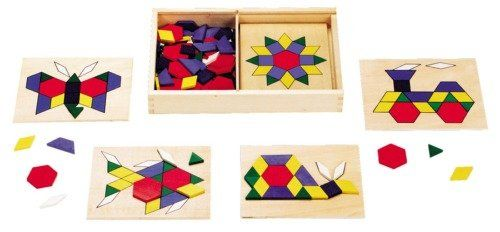 Melissa And Doug Pattern Blocks And Boards Suitable For Mosaics