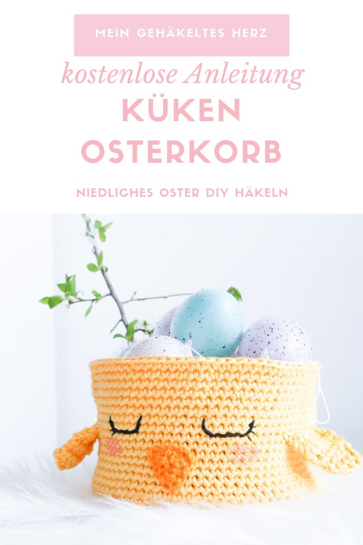 Photo of Häkeln Sie den Osterkorb als kükenfreies Häkelmuster