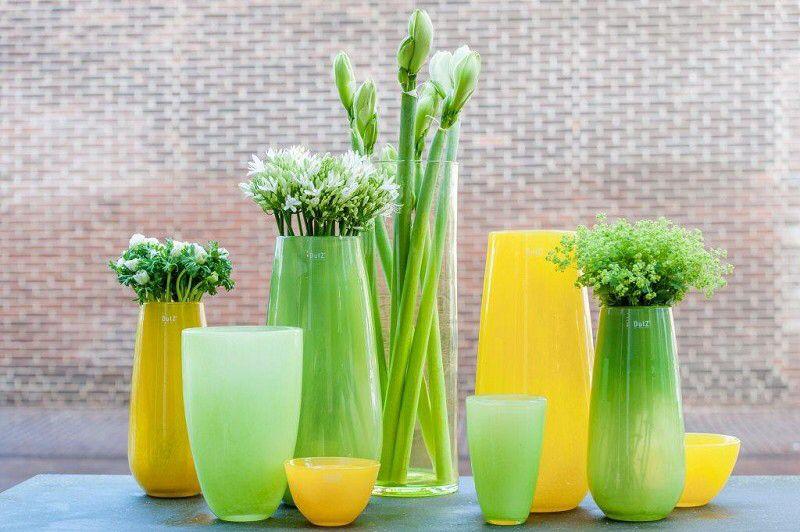 Dutz Collection Gelb Grün Ffe Flower Vase Yellow Collection