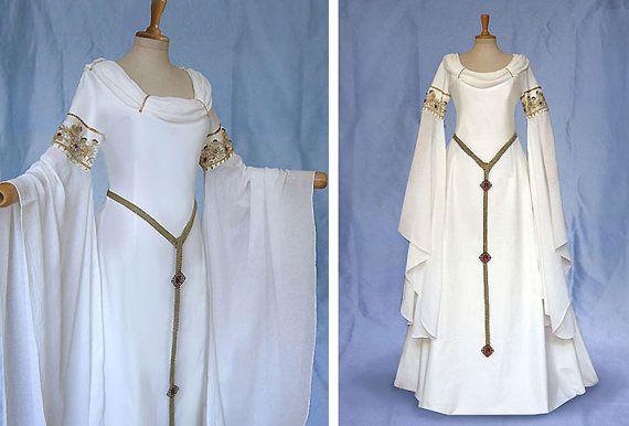 Elfenkleid Brautkleid AMIDA Hochzeitskleid von Elfenkleider auf Etsy