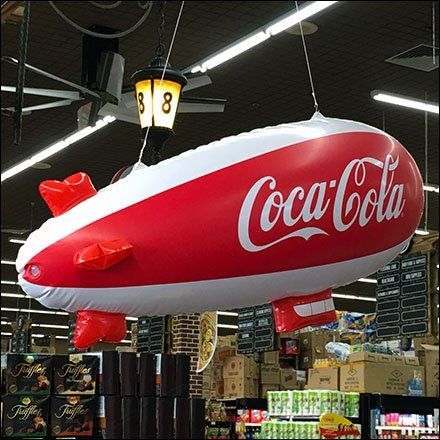 Coca-Cola Blimp Cruises Cashwraps At Food Bazaar Balloons and - coca cola merchandiser sample resume