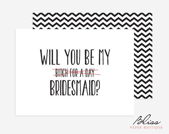 Funny will you be my bridesmaid maid of by blisspaperboutique funny will you be my bridesmaid maid of by blisspaperboutique pronofoot35fo Image collections