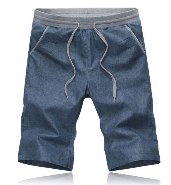 2017 LetsKeep 5XL New Summer linen shorts men casual slim fit short pants comfortable solid straight shorts with elastic, MA364