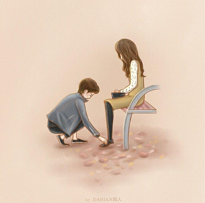 Pin By Tina On My Secret Romance Anime Love Couple Cute Couple Art Love Illustration