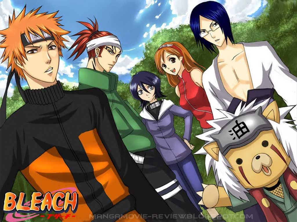 Anime Cross Over of Bleach and Naruto Anime CrossOvers