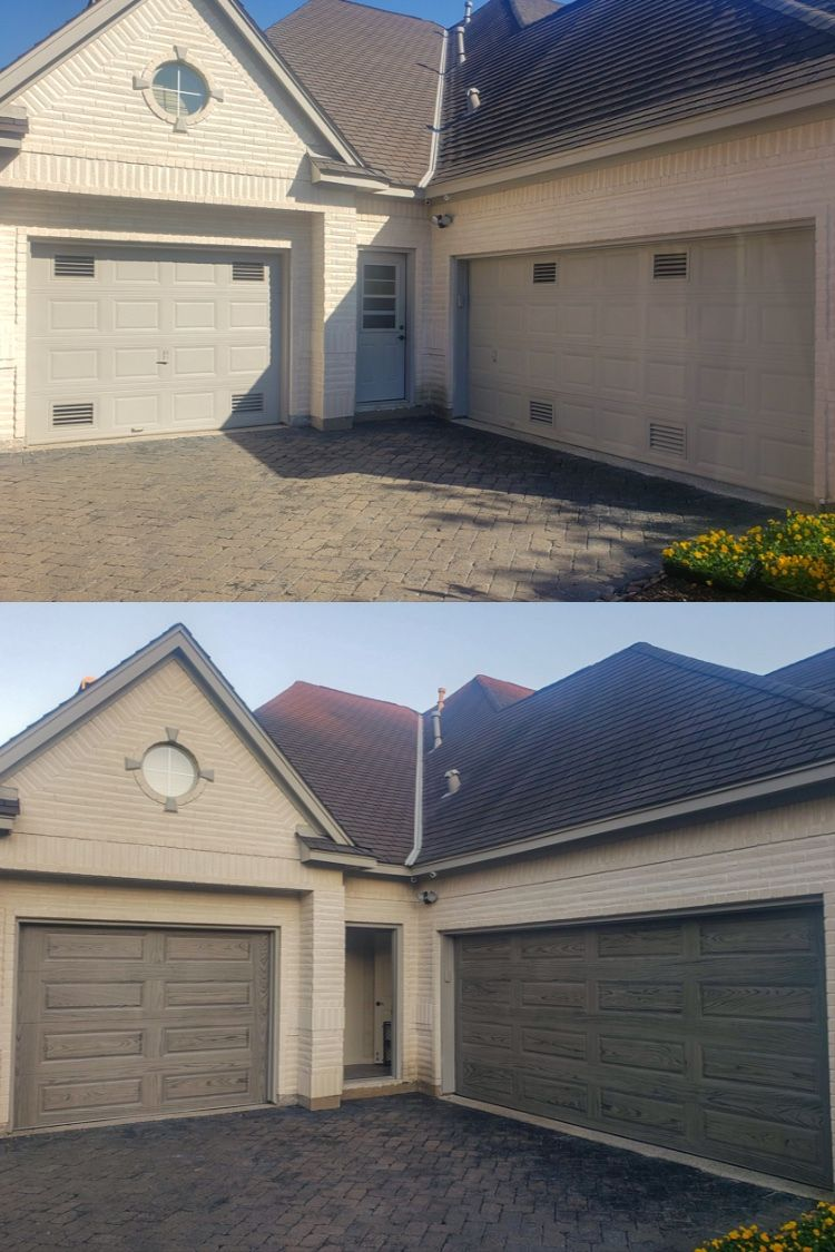 Before After Raised Panel Garage Doors By C H I Overhead Doors Garage Door Panels Garage Doors Overhead Door