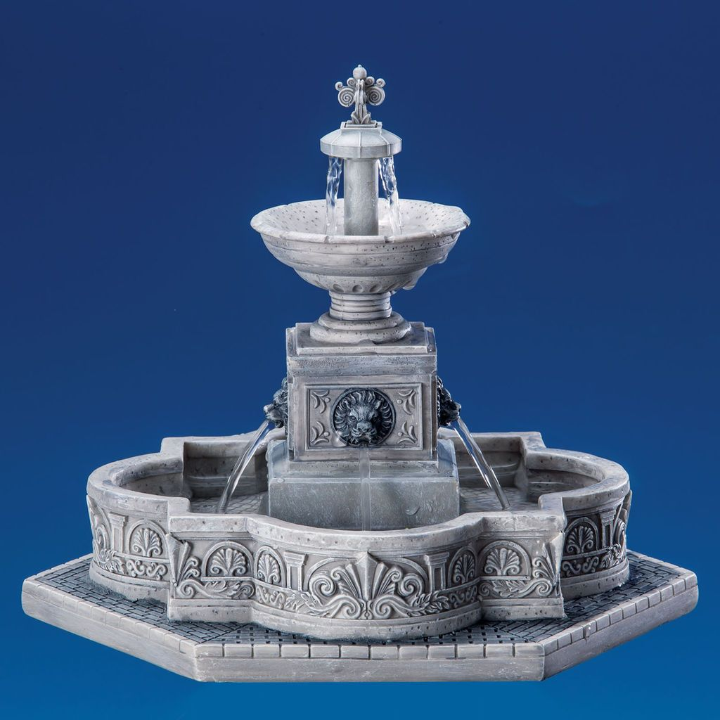 Water Fountain Lemax Christmas Village