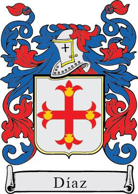 Díaz Escudo Heráldico Heraldica Sairaf Family Shield Coat Of Arms Heraldry