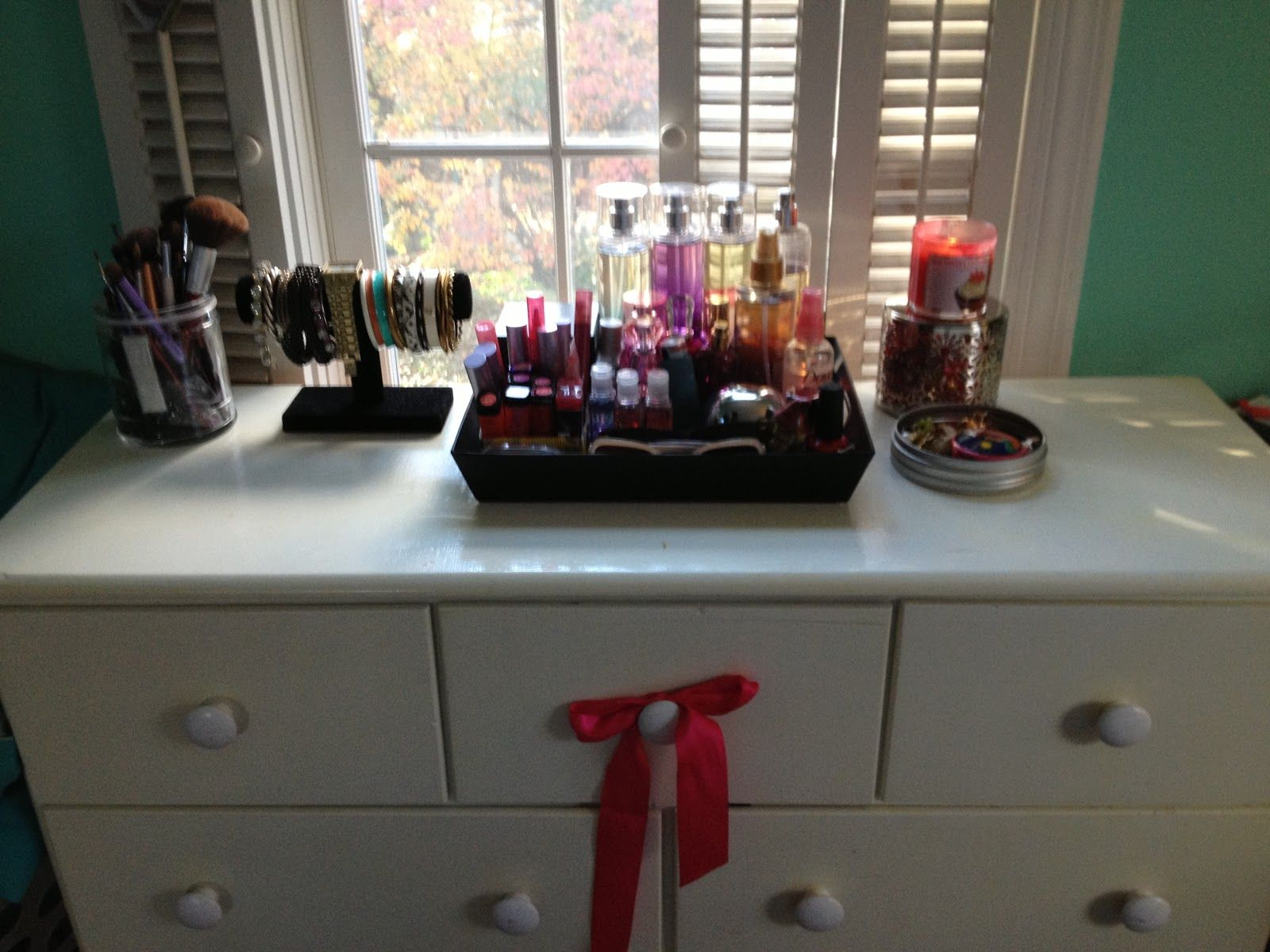top of dresser organization | Dresser top decor, Dresser ...