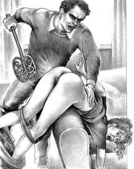 spanking punishment corporal girl art Naughty