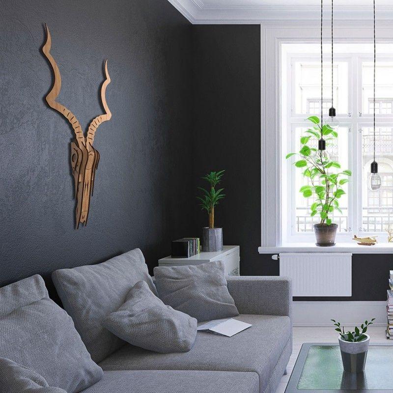 kudu 3d wooden wall art beech red candy 3d wall on kim wall murder id=26026