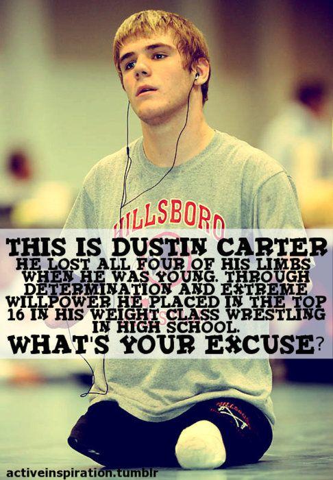 Dustin Carter   Motivation   Wrestling quotes, Wrestling mom ...