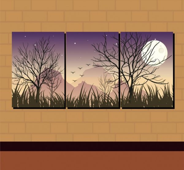 Image result for night theme paintings Graphic design