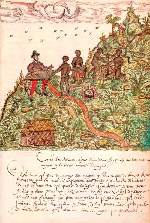 The first visual representation of an enslaved African in the Americas, from The Image of the Black in Western Art