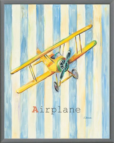 Airplane Framed Canvas Print by Catherine Richards at Art.com | Bite ...