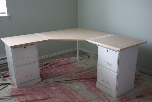 Diy Corner Desk For Basement Office Unfinished