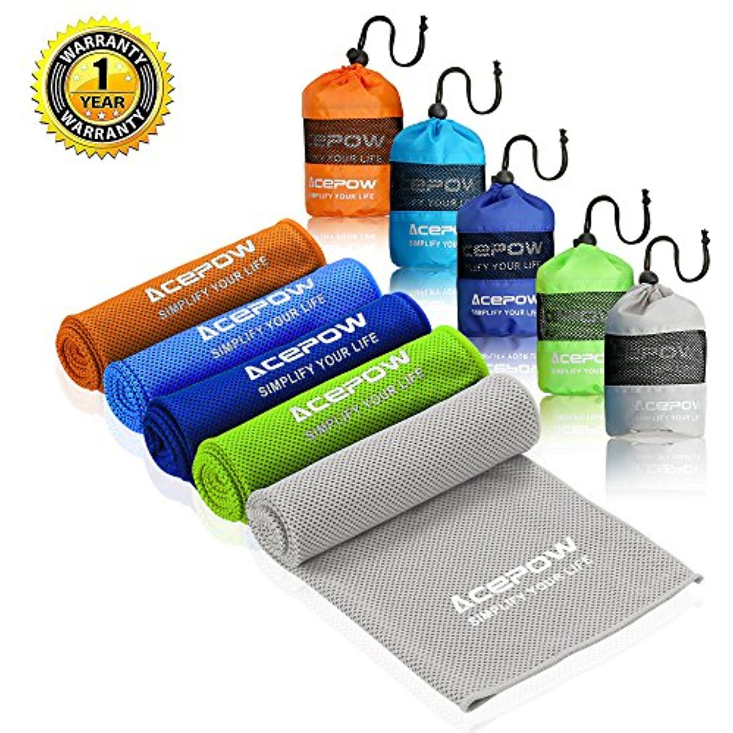 Acepow Cooling Towel For Instant Relief 40 X12 Ultra Soft