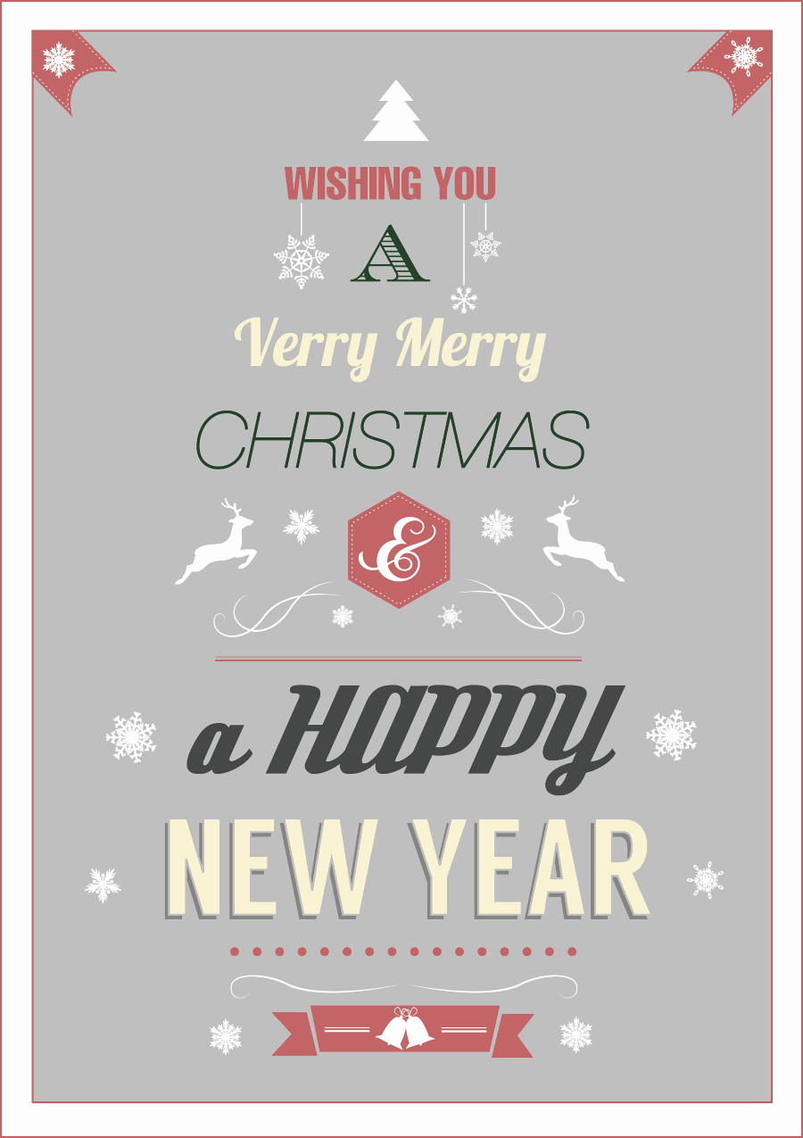 Typographic Christmas Cards Google Search Typographic Christmas