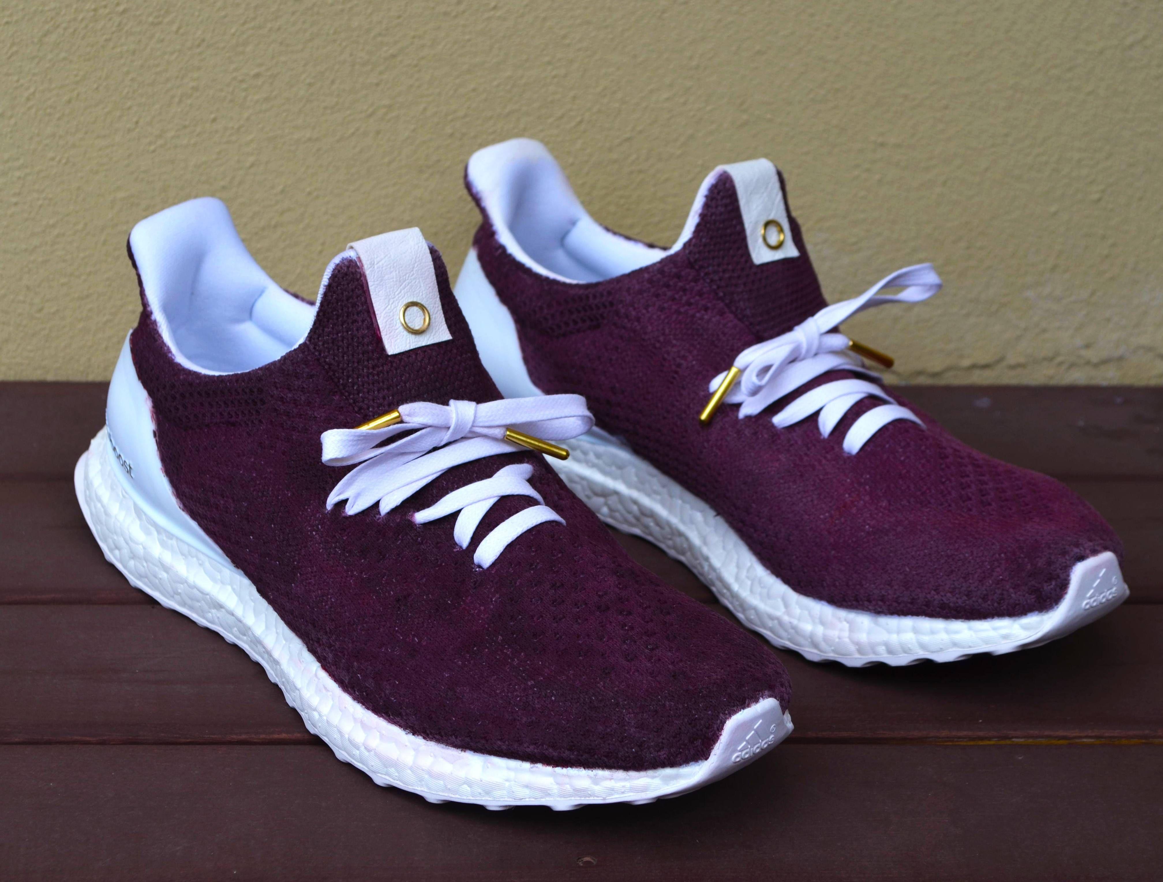 Side Project : Custom Adidas Ultra Boost x Burgundy Uncaged