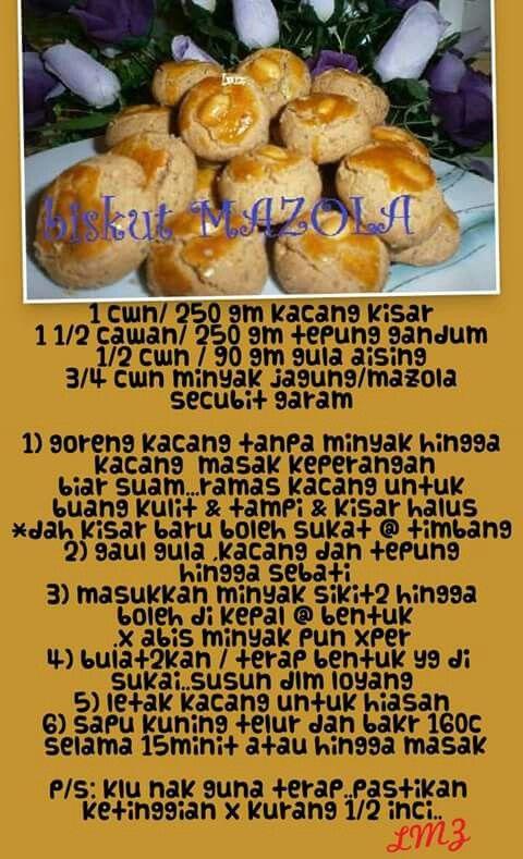 membuat biskut mazola Resepi Biskut Suji Berkacang Enak dan Mudah