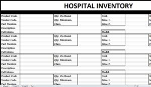 Hospital Inventory List Free Excel Template Http