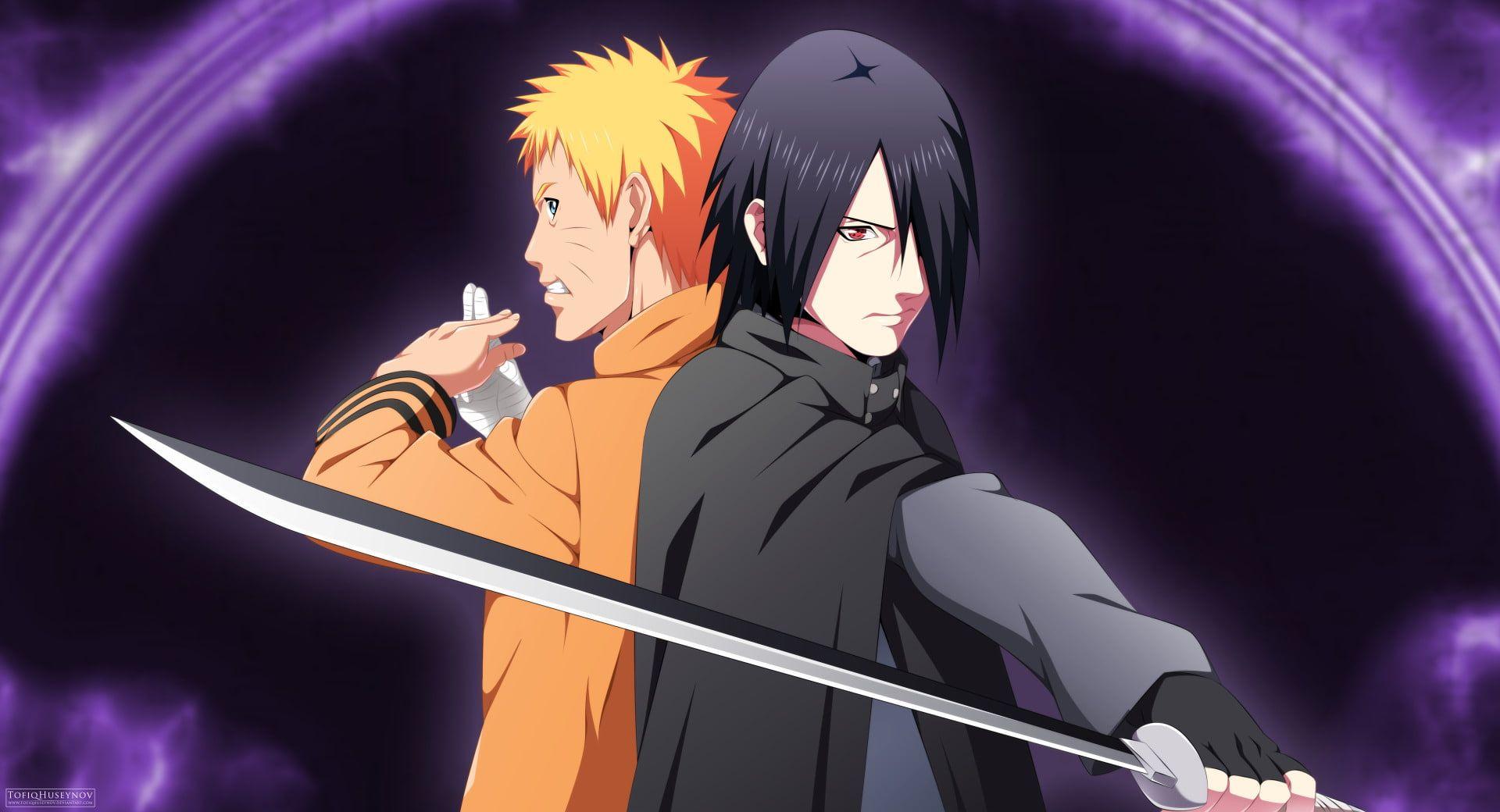 Anime Boruto Naruto Uzumaki Sasuke Uchiha 1080p Wallpaper