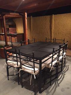 Comedor de fierro modelo independencia 10 sillas | Comedores de ...