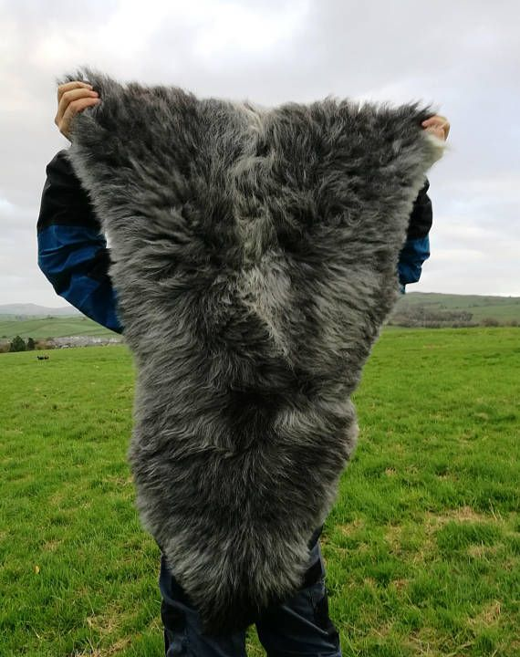 Herdwick Sheepskin 105 Cm Long Rare Breed Genuine Lambskin Rug Merino Wool Elf