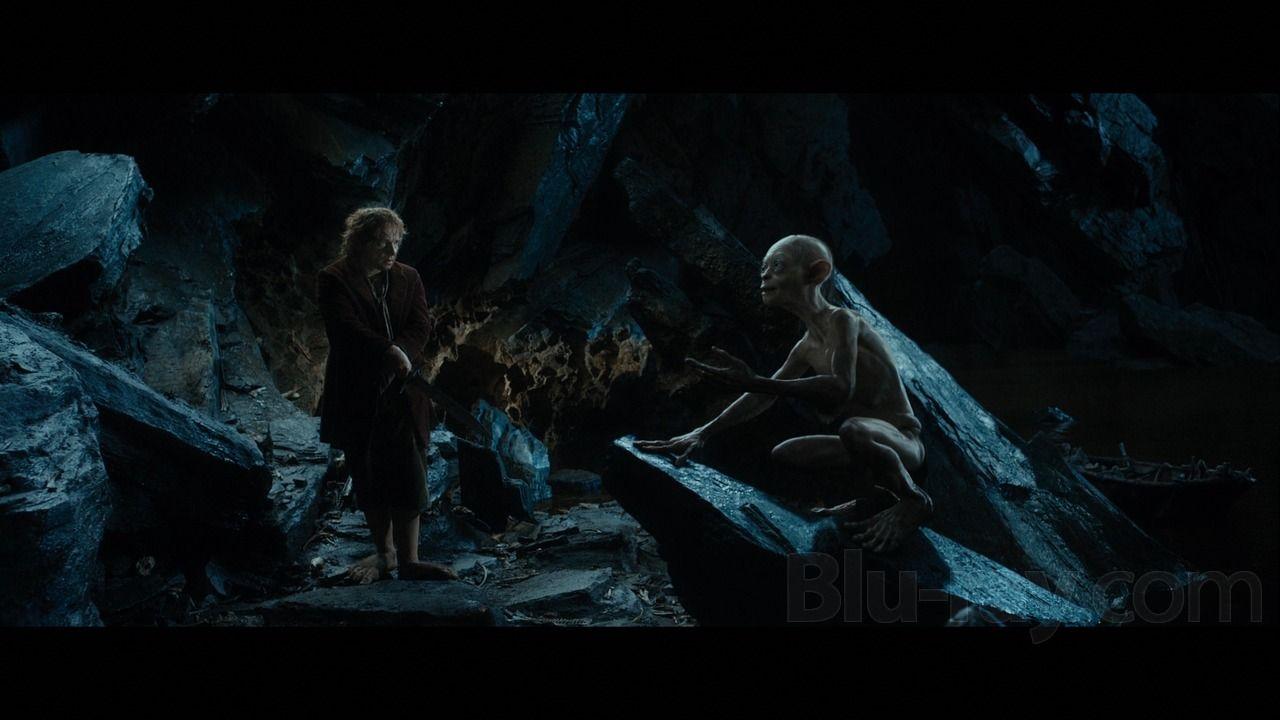 Bilbo and Gollum | The hobbit gollum, The hobbit, Middle earth