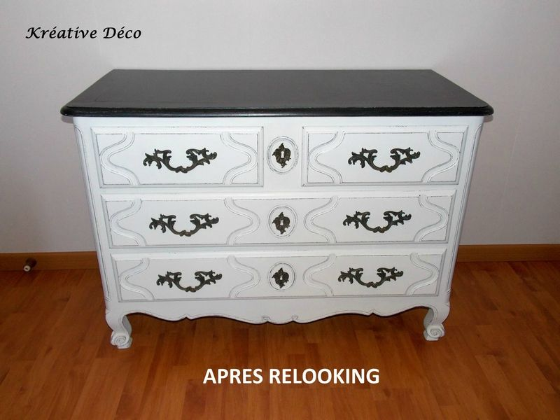 Commode Relookee A Figeac Kreative Deco Commode Mobilier De Salon Relooking Meuble