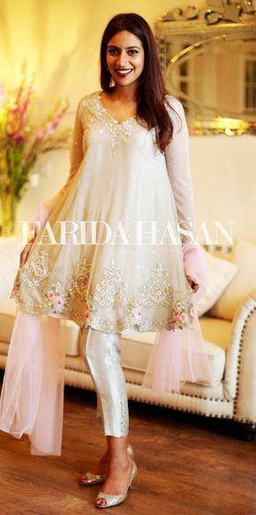 a5483db4c6c2a Latest Designs Pakistani Fashion Short Frocks With Capris 2017 ...