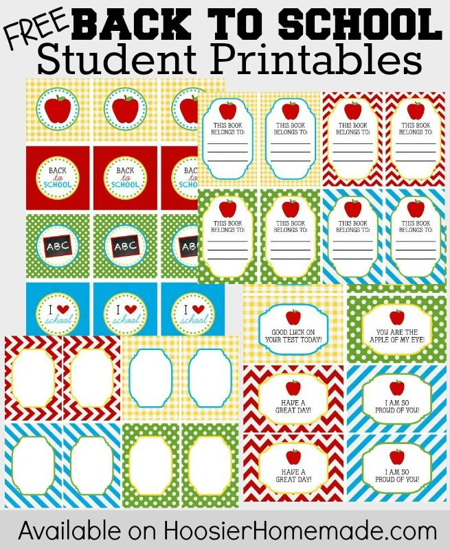 Back to School Printables for Teachers and Students ...