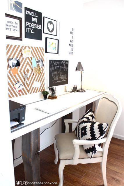 DIY Memo Board Makeover! Simple, modern office ideas