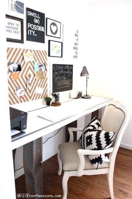 DIY Memo Board Makeover! Simple, modern office ideas