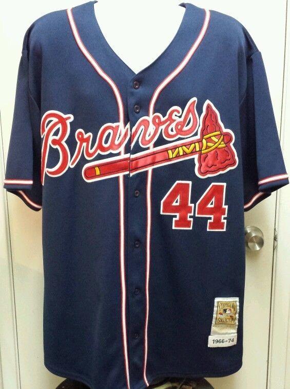 Vtg Hank Aaron Atlanta Braves 44 Jersey Mitchell Ness Cooperstown 1966 Sz 52 Atlanta Braves Hank Aaron Jersey
