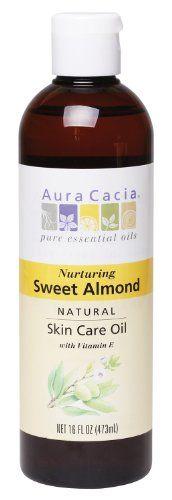 Aura Cacia Nurturing Sweet Almond Natural Skin Care Oil 16 Ounce Bottle Aura Cacia Http Www Am Natural Oil Skin Care Natural Oils For Skin Natural Skin Care