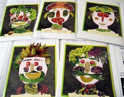 Attività Bambini ~ Laboratori artistici per bambini con la frutta school art
