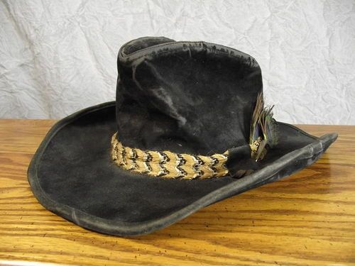 9db2351b37a57 Vtg 70s Smokey and the Bandit Stetson Velour Velvet Cowboy Hat 21.5 ...