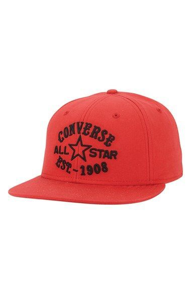 8fe62f25a859e Men s Converse Snapback Cap - Red Converse Men