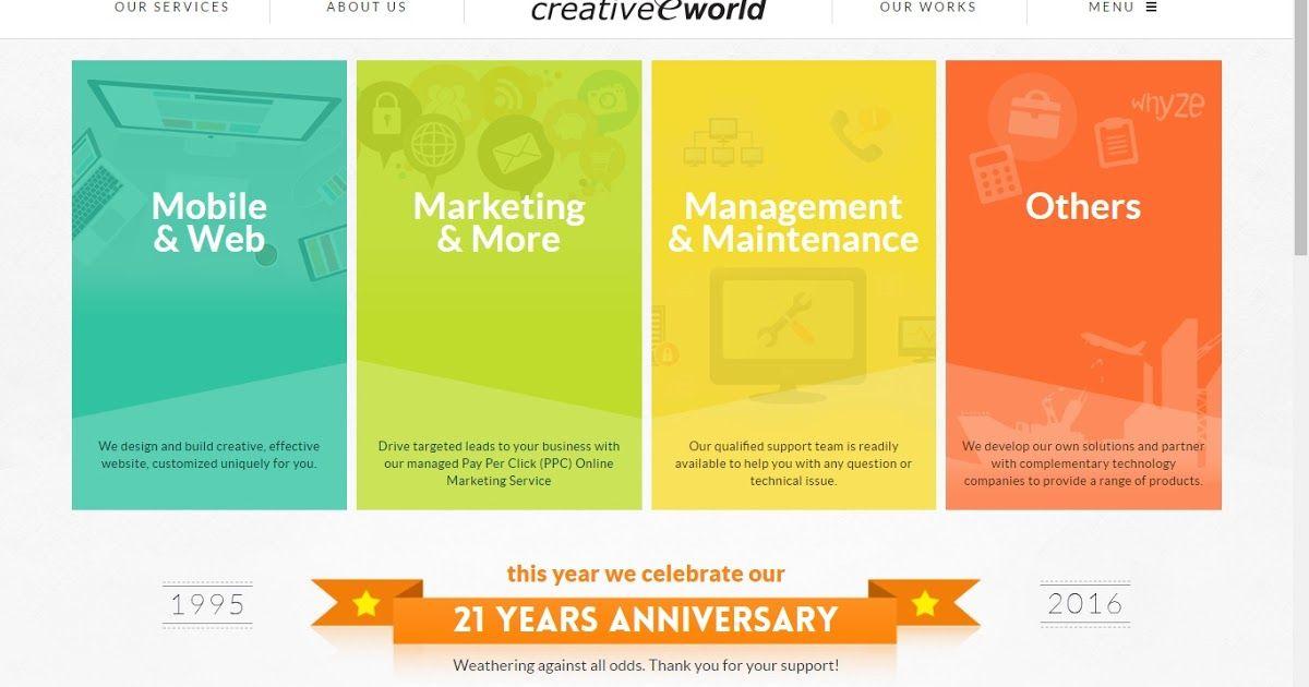 Creative Eworld Pte Ltd Website Design Singapore Singapore Largest Online Website Designing Development C Web Hosting Web Development Design Hosting Company