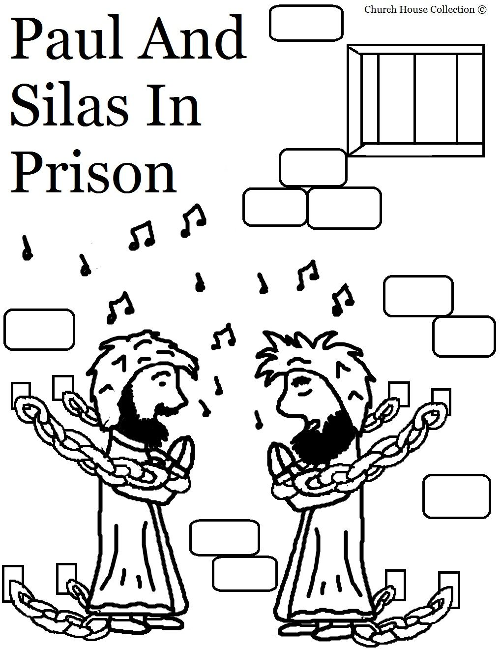 Paul And Silas Coloring Page 2 Jpg 1 019 1 319 Pixels Sunday