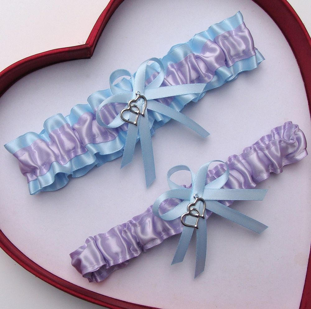 NEW Gorgeous Lavender Turquoise Wedding Garter Prom Homecoming GetTheGoodStuff