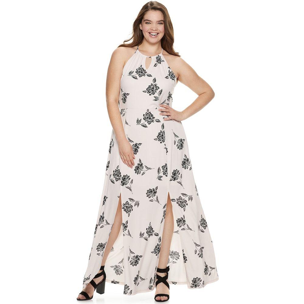 Juniors\' Plus Size Candie\'s® Halter Maxi Dress | Plus size ...