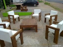 resultado de imagen para sillones de madera de exterior