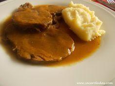 Caceroladas Redondo De Ternera Con Salsa Ternera En Salsa Platos De Carne Comida Sin Carne