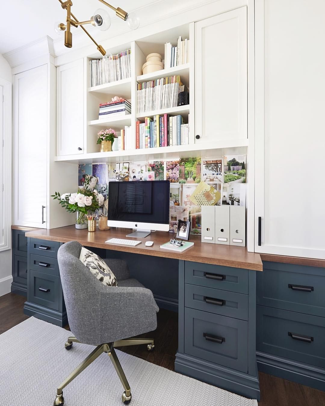 Home Office White Cabinetry Home Office Space Home Office