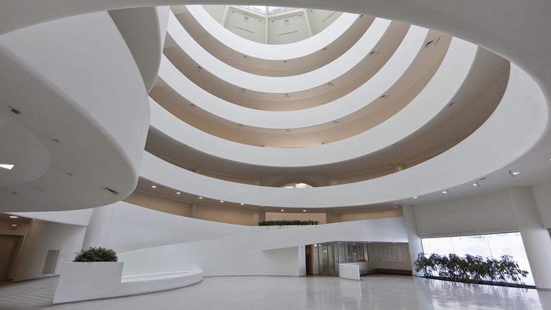 Interior Of The Solomon R Guggenheim Museum New York