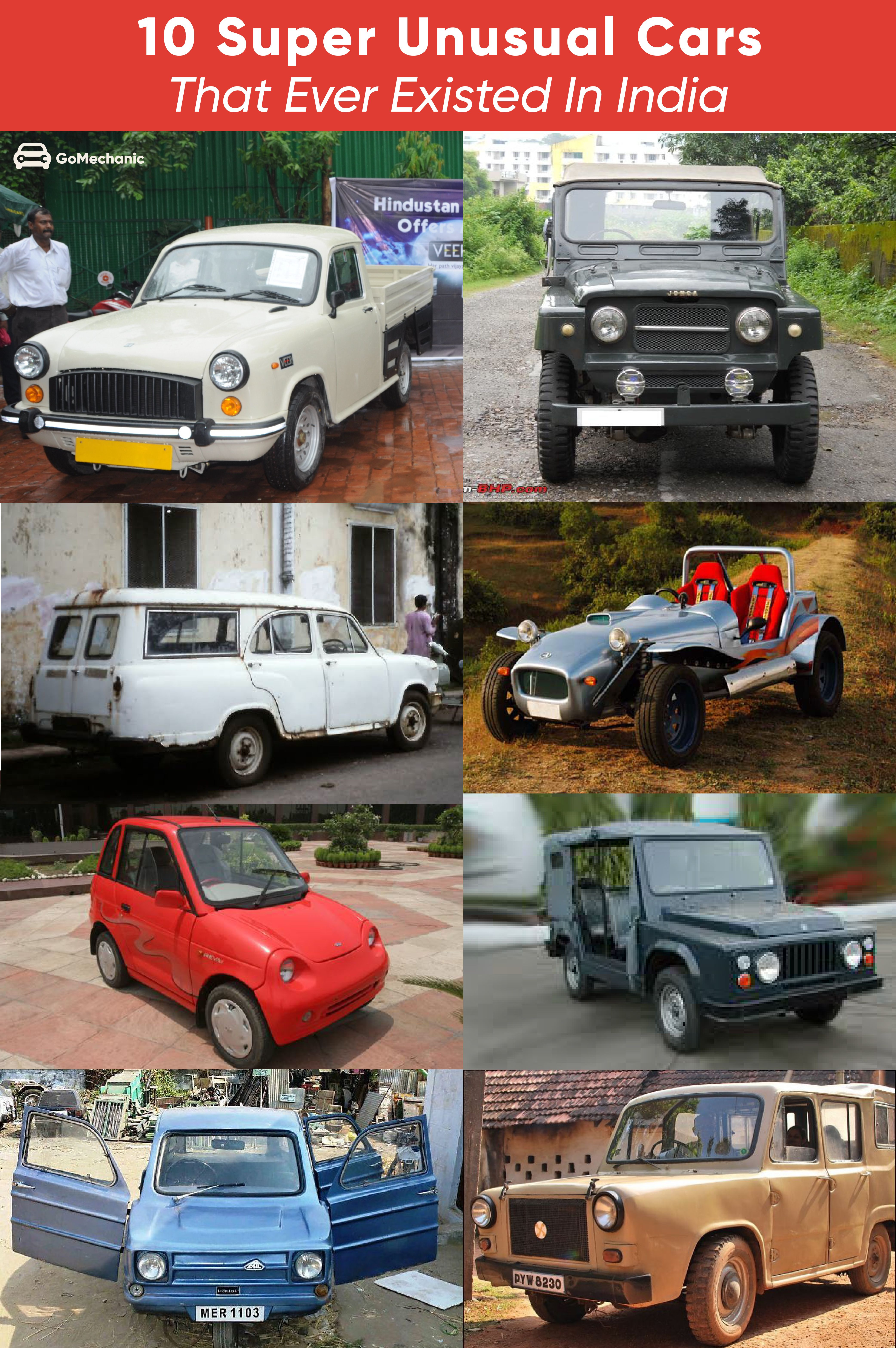 10 Super UNUSUAL Cars that ever existed in India in 2020